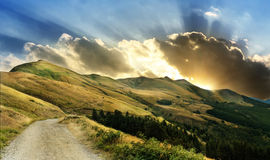 Approaching tempest on italian mountains Royalty Free Stock Photo