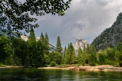 Approaching Thunderstorm over Yosemite Valley stock photography