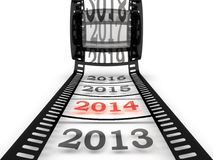 Approaching to the new year 2014 Royalty Free Stock Photography