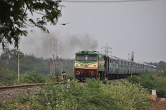 Approaching train at Karaikal Stock Photo