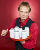Approaching waiter royalty free stock images