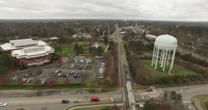 Approaching the Water Tower stock footage