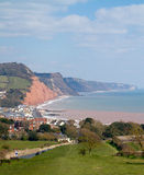 South West Coast Path Sidmouth Devon England Royalty Free Stock Photo