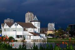 Approacing åskväder i Batumi Georgia Royaltyfri Foto