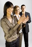 Approbation of Business Group stock photo