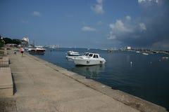 Approcci del port_storm di Umag Fotografie Stock