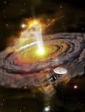 Approche à un protoplanet illustration stock