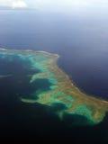 Approche au-dessus des Fidji Image libre de droits