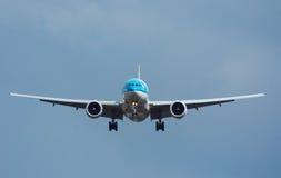 Approche d'aéronefs Photo libre de droits