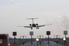 Approche d'atterrissage Images libres de droits