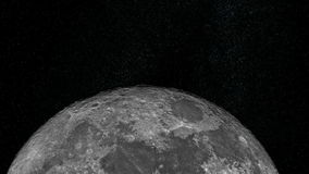 Approche de la lune banque de vidéos