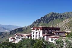 Approche du monastère de Drepung Image libre de droits