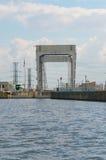 Approche occidentale au Canada du Québec de canal de carillon image libre de droits
