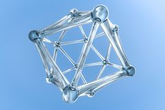 Approches d'ensemble hexagonales, rendu 3d illustration stock