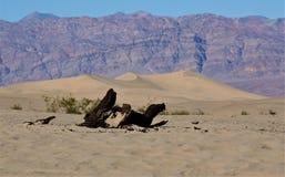 Approching死亡谷,加利福尼亚 免版税图库摄影