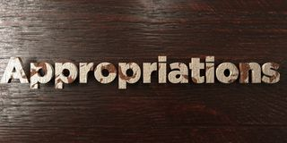 Appropriations - grungy wooden headline on Maple  - 3D rendered royalty free stock image Royalty Free Stock Photo