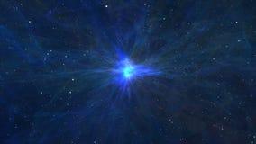 Approssimazione alla nebulosa fantastica e variopinta illustrazione di stock