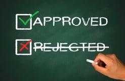 Approuvé non rejeté photos libres de droits
