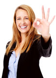 Approuvez le geste de main photographie stock libre de droits