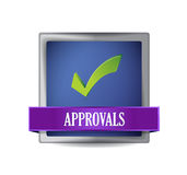 Approval button illustration design Royalty Free Stock Photo