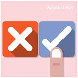Approval concept. The best choice icons. Royalty Free Stock Image
