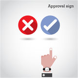 Approval concept. The best choice icons. Stock Image