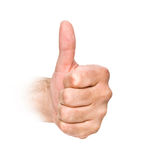 Approval gesture. Close up of approval gesture stock photos
