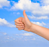 Approval gesture Stock Images