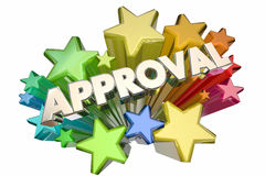 Approval Good Answer Accepted Stars Stock Image