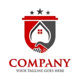 Approval of home sales. Logo your company vector illustration
