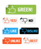 Approval paper stickers collection Stock Photo