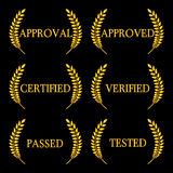 Approval Seals Laurel 2 Stock Photo