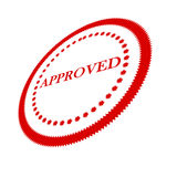 Approval stamp. On solid white background royalty free illustration