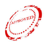 Approval stamp. On a white background vector illustration