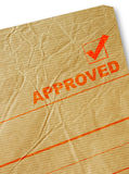 Approval stamp Royalty Free Stock Photography