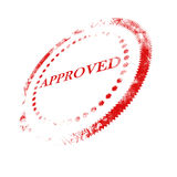 Approval stamp Stock Photo