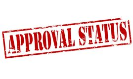 Approval status. Rubber stamp with text approval status inside,  illustration Stock Image