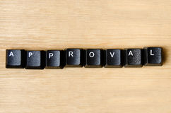 Approval word Stock Image