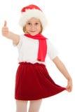 Approvazione del bambino di natale felice Immagine Stock