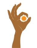Approvazione del segno della mano. Fotografie Stock Libere da Diritti
