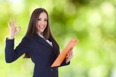 Approvazione della donna di affari Immagine Stock Libera da Diritti
