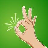 Approvazione della mano Immagini Stock Libere da Diritti