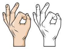 Approvazione di gesto di mano illustrazione di stock