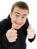 Approvazione divertente dell'uomo Immagine Stock Libera da Diritti