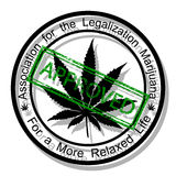 Approve marijuana Royalty Free Stock Images
