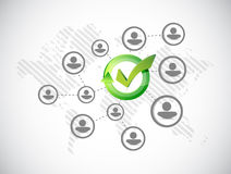 Approve people network illustration Royalty Free Stock Image