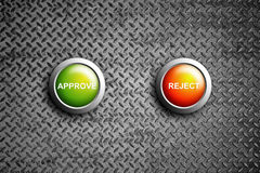 Approve and reject button Royalty Free Stock Photo