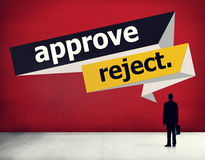 Approve Reject Cancelled Decision Selection Concept Royalty Free Stock Image