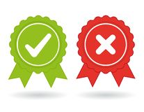 Approve and Reject Icons royalty free illustration