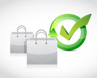 Approve shopping. illustration design Stock Photography
